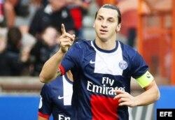 Zlatan Ibrahimovic, jugador del Paris Saint Germain.
