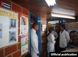 Médicos cubanos de la Misión Barrio Adentro en Venezuela.