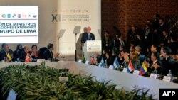 Reunión del Grupo de Lima en Bogotá para analizar crisis en Venezuela