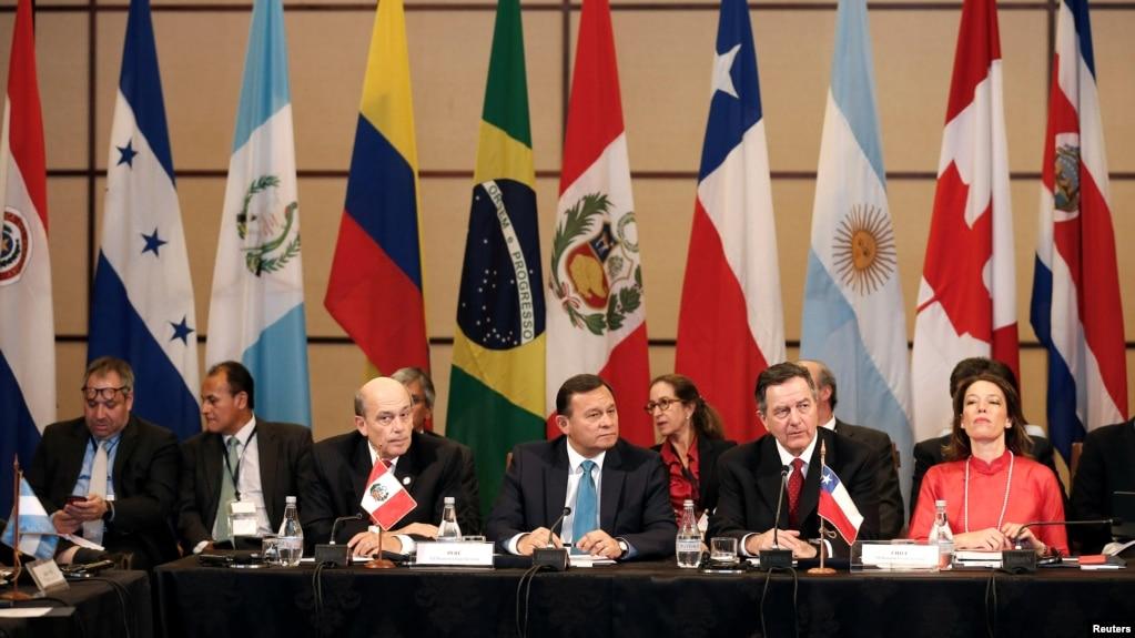 Líderes del Grupo de Lima durante una reunión en Santiago de Chile. (Archivo)