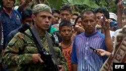 Subversivo de las FARC. Archivo.