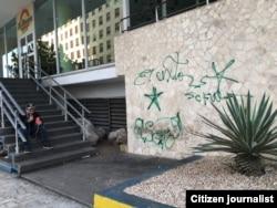 """Grafitis de """"El Sexto"""" en La Habana, en la madrugada del 26 de noviembre."""