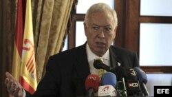 El ministro de Asuntos Exteriores español José Manuel García-Margallo, en Israel.