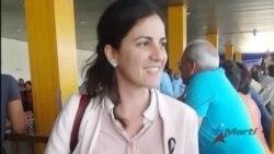 Rosa María Payá regresa a Cuba