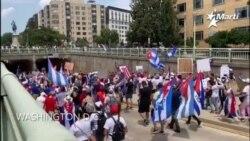 Marcha en apoyo a los cubanos de la isla se dirige a la embajada de Cuba en Washington