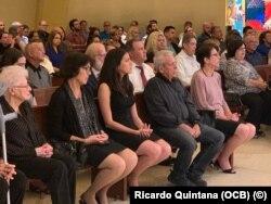Misa en la Ermita de la Caridad de Miami, en memoria de Oswaldo Payá y Harold Cepero, el 22 de julio de 2019