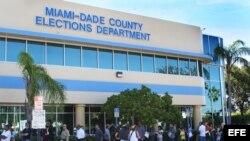 El departamento de Elecciones de Miami, Florida (EE.UU.) el martes 6 de noviembre de 2012.