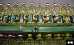 Pomos de aceite rebajados de precio en abril de este año