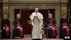 Papa Francisco en El Vaticano. Archivo.