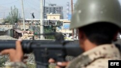 Soldados afganos. Kabul. Afganistán. Foto Archivo.