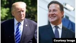 Presidentes de Panamá y EEUU