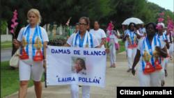 Damas de Blanco Marcha domingo 12 Habana foto Angel Moya