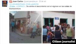 Reporta Cuba Colas Buenaventura Holguín Foto @juancperezleyva