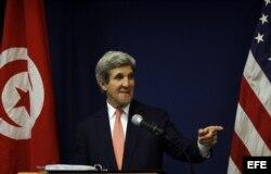 Secretario de Estado, John Kerry, en conferencia de prensa (Archivo)