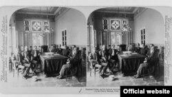 Don Tomás Estrada Palma y su gabinete. Foto Library of Congress