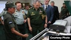 Ministro de defensa de Rusia, Serguei Shoigu, en centro topográfico de Nicaragua.