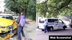 Reporta Cuba. Accidente de tránsito. Foto: Arturo Rojas/Cubanet.
