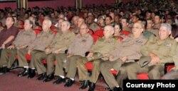 Oficiales superiores del MINFAR