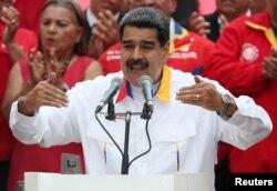 Nicolás Maduro el 20 de Mayo de 2019 durante una concentración convovada en el Palacio de Miraflores