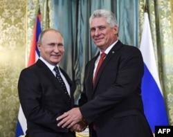 Putin y Díaz-Canel hablaron sobre cooperación militar, entre otros asuntos.