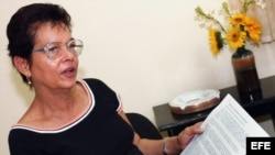 Foto de archivo de la opositora cubana Miriam Leyva.