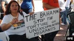 Campaña contra el maltrato hacia los inmigrantes indocumentados en Bahamas. Archivo.