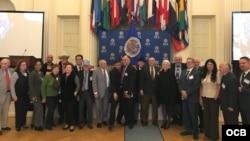 Participantes en la conferencia de la OEA sobre la situación de los derechos humanos en Cuba, diciembre 7, 2018.