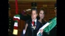 El presidente Enrique Peña Nieto encabeza El Grito en el Zócalo