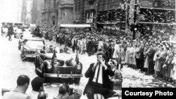 Desfile de Van Cliburn en Broadway en Abril de 1958.