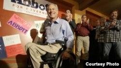El actual gobernador de Texas, Gregg Abbott, durante su campaña electoral en 2014.