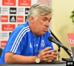 El director técnico del Real Madrid, Carlo Ancelotti.
