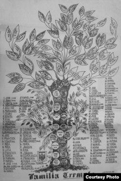 Uno de los árboles genealógicos recopilados por Hurtado de Mendoza.