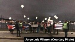 Cubanos en Estocolmo se reúnen en apoyo al Movimiento San Isidro