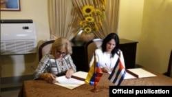 Cuba y Venezuela firman acuerdo migratorio.