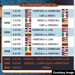 Calendario oficial de la Serie del Caribe 2014