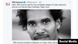 Declaración del PEN América sobre Luis Manuel Otero Alcántara.
