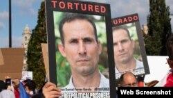 Manifestantes exigen en Miami la liberación de José Daniel Ferrer. (Archivo)