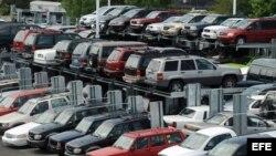 Lote de carros usados.