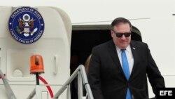 El secretario de Estado de EE.UU., Mike Pompeo llegó a Ciudad de México