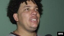El lanzador dominicano Bartolo Colón, de los Angelinos de Anaheim