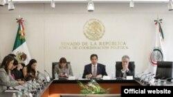 Audiencia en el Senado mexicano.