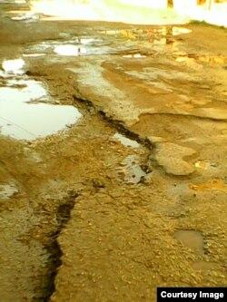 Huecos y despavimentación en las calles de Quivicán.