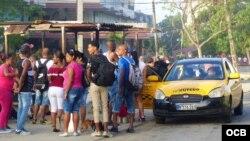 Los taxis ruteros tienen mucha demanda.