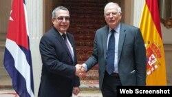 Marcelino Molina se reunió en Madrid con el ministro de Asuntos Exteriores, Unión Europea y Cooperación, Josep Borrel.