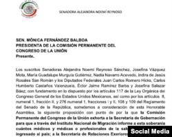 Carta de Senadores Mexicanos