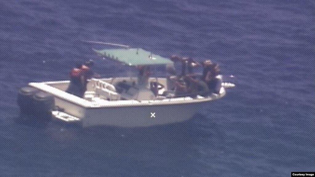 Detalles de la acción de la Guardia Costera de Estados Unidos para interceptar a 10 migrantes cubanos el lunes 20 de mayo de 2019. (Courtesy USCG).