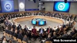 Una reunión del Fondo Monetario Internacional. (Foto: FMI)