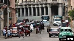 Vista de una calle de La Habana.