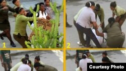 Arresto de Berta Soler el domingo 17 de diciembre