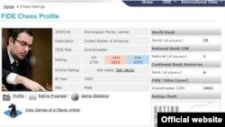 Ficha de la FIDE actualizada de Leinier Domínguez.